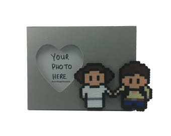 Star Wars Picture Frame - Han Solo and Princess Leia Picture Frame - Star Wars Wedding Gift - Star Wars Anniversary Gift