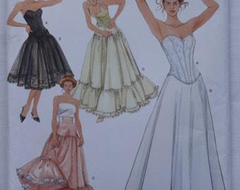 Lingerie Woman's Sewing Pattern Simplicity 5006 Misses Corset Petticoat Underwear
