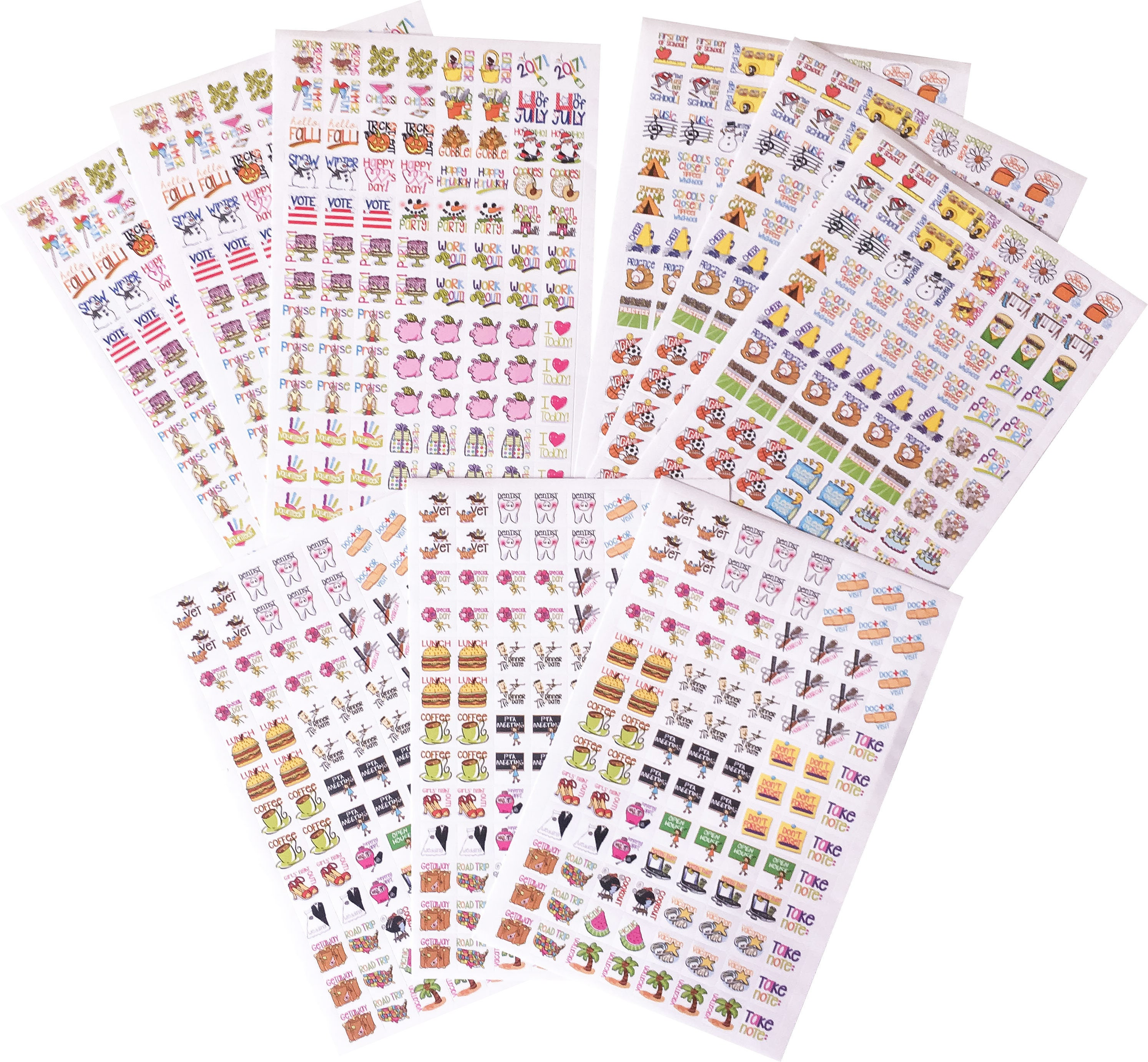 Planner Stickers Mini-size...Wow 936 Planner Stickers To