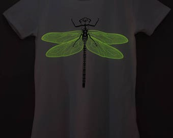 Orange Dragonfly Glow-in-the-dark Woman T-shirt