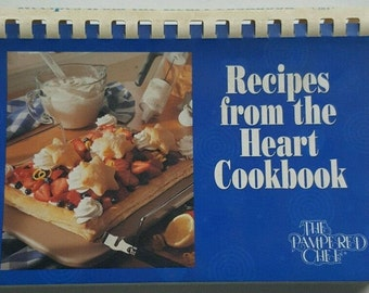 The Pampered Chef - Recipes from the Heart Cookbook - 1997 - Ring Binder