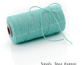 Solid Teal Bakers Twine - 240 yard spool - 100% Cotton - Divine Twine Made in the USA - Biodegradeable