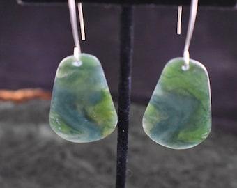 Blue Ogden Mountain Jade Drop Earrings