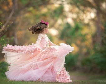 LIMITED EDITION 'Blushing Spring' Couture Flower Girl Dress