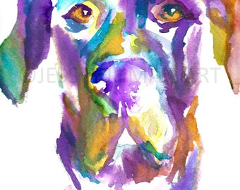 """Dog Watercolor Painting, Print of Dog, Dog Art, Watercolor Dog """"Toby the Great (Dane)"""" 18 x 24 Watercolor Poster, Watercolor Painting of Pet"""