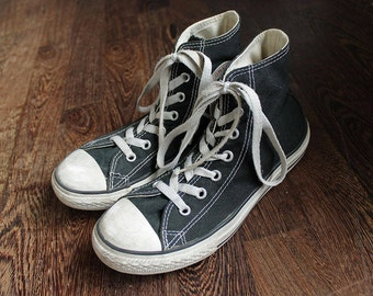 80s Vintage Black Converse Sneakers for Women size UK3 EU36 US5