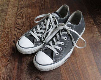 80s Vintage Black Converse Sneakers for Women size UK5.5 EU38.5 US7.5