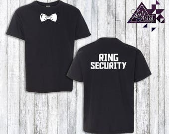 Ring Bearer Shirt - Ring Security - Kids Shirt