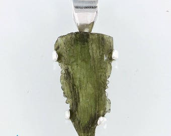 Museum Grade Moldavite Pendant  SW522
