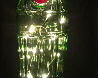 Tanqueray Special Edition Bottle with White LED String Lights