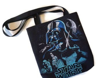 Star Wars Bag • Upcycled Star Wars Tshirt Shoulder Bag • Tshirt Tote Bag • Star Wars Gift