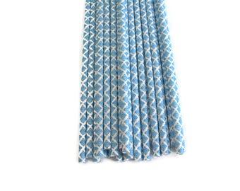 Sky Blue Paper Straws 25 Count   Sky Blue Damask Paper Straws    Bright Blue Damask Paper Straws   Blue Paper Straws   Blue Damask Straws