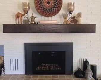 Reclaimed rustic style mantel, hewn beam mantels. Fireplace mantle. custom mantel.