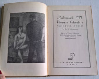 Mademoiselle Fifi, Parisian Adventure and Other Stories by Guy de Maupassant --- Illustrated by Remo Farruggio --- Vintage French Story Book