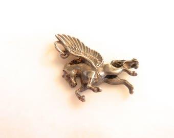 Silver Pegasus  Pendant Silver Pendant or Silver Charm