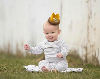 Max Crown Half Birthday Hat || Where the Wild Things Are Birthday Crown || Lion King Cake Smash || Wild Things Crown || Cake Smash Outfit