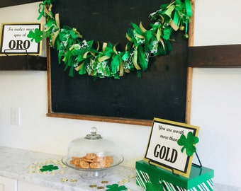 St. Patrick's Day Garland Banner Decor!