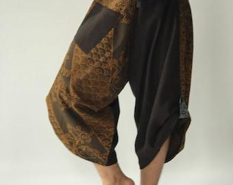 SR0176 Samurai Pants Harem pants have fisherman pants style wrap around waist