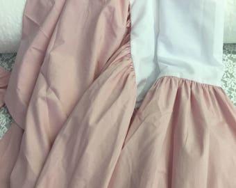 Dusty Rose Crib Skirt, Dusty Pink Baby Bedding, Dusty Rose Dust Ruffle, Vintage Nursery Theme, Mauve Pink