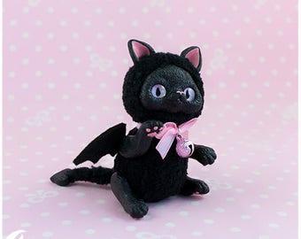 Fluffy bat kitten Toy 2