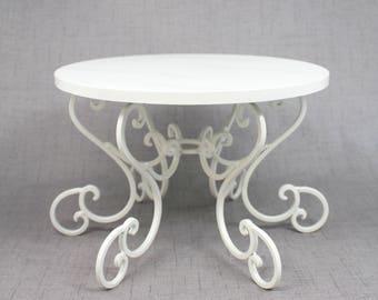 white cake stand scroll pedestal party or wedding platter cupcake display cake