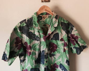 Revere Collar Floral Shirt