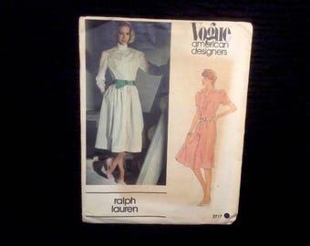 Vintage Vogue Sewing Pattern Uncut No. 2717 Dress Ralph Lauren Sz 12