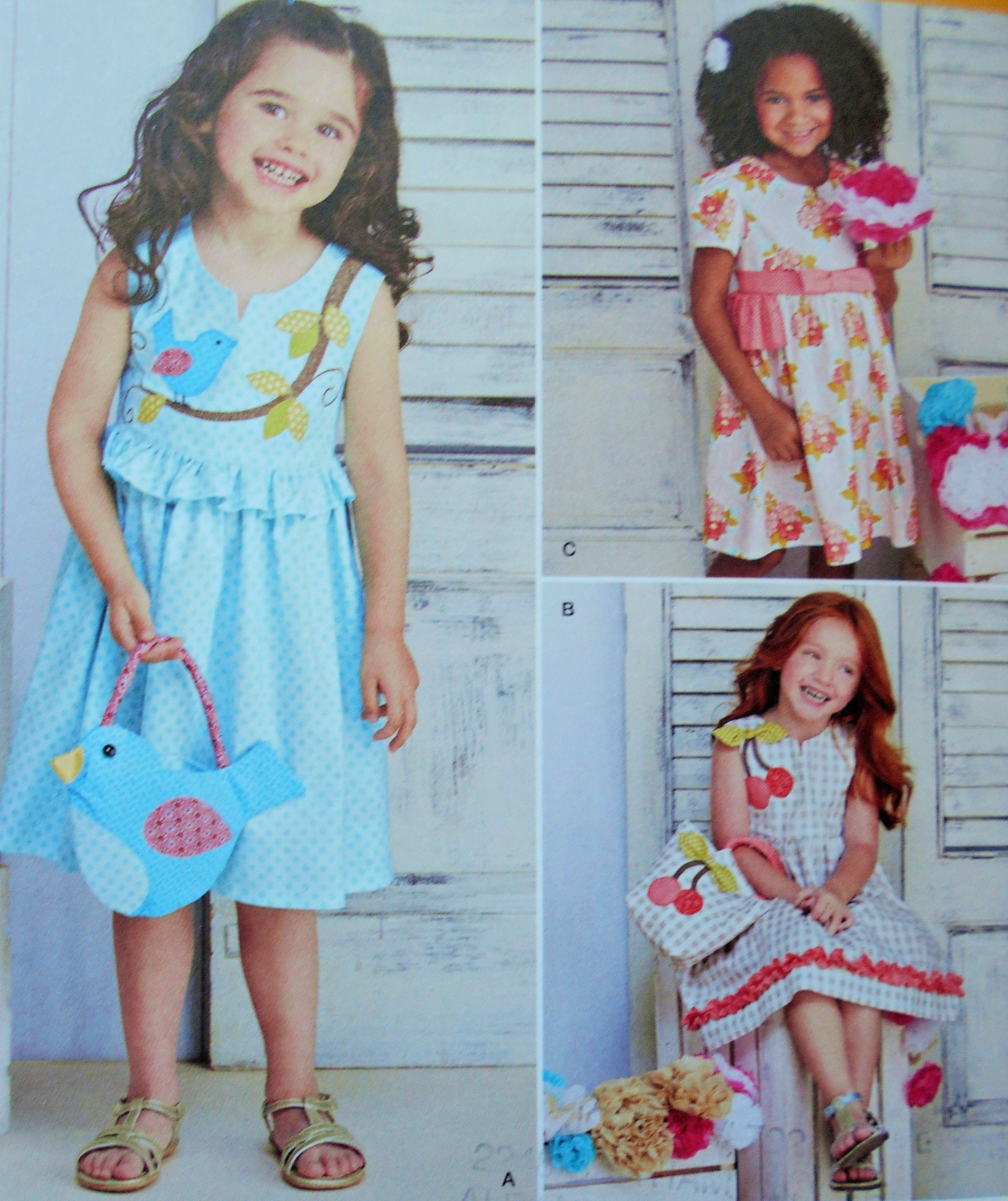 9201773ac4216 Simplicity Sewing Pattern 8063 Girl's Dress and Purses in Size 3-8. Little  Girl's Purse, Girl's Bag,Summer Dress, Appliqued Dress from RosiesPlayHouse  on ...