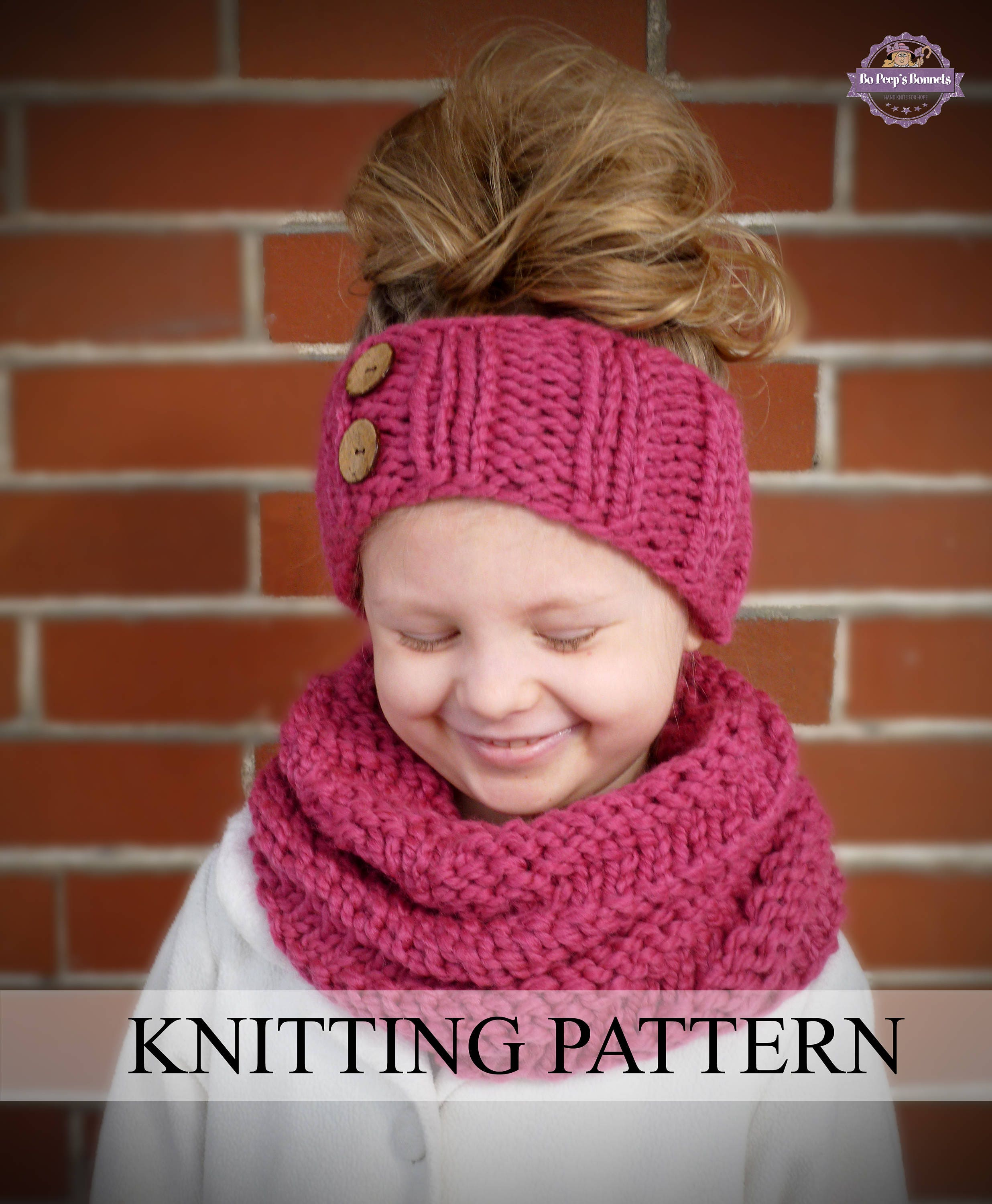 INSTANT DOWNLOAD Knitting PATTERN Spiral Cowl and Headband