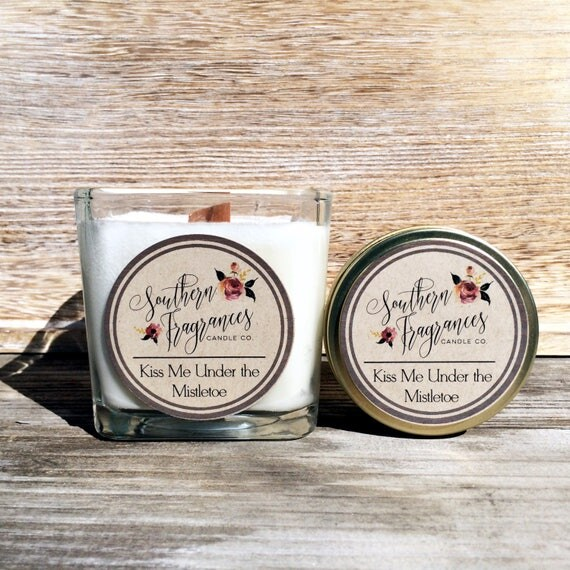 Kiss Me Under the Mistletoe Soy Candle | Winter Collection