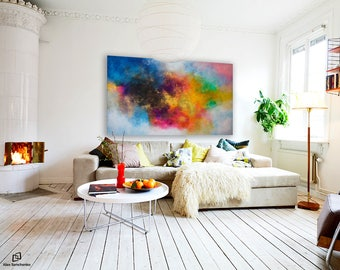 XXLarge abstract painting by Alex Senchenko / painting on canvas / large wall art / Contemporary ART / painting original /  LOOKS GREAT !