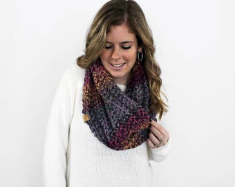 Infinity Scarf, Knit Scarves, Chunky Knit Cowl- Cheverly Cowl