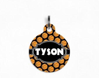 "Pet ID Tag | ""Tyson"" - Basketball Slam Dunk"