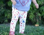SALE Red Triangle Baby Leggings/ Toddler Leggings/ Baby Leggings Girl/ Baby Pants/ Baby Leggings Boy/ Infant Leggings/ Newborn Leggings