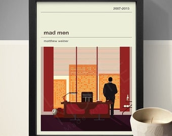 mad men poster tv print print poster - Mad Man Furniture