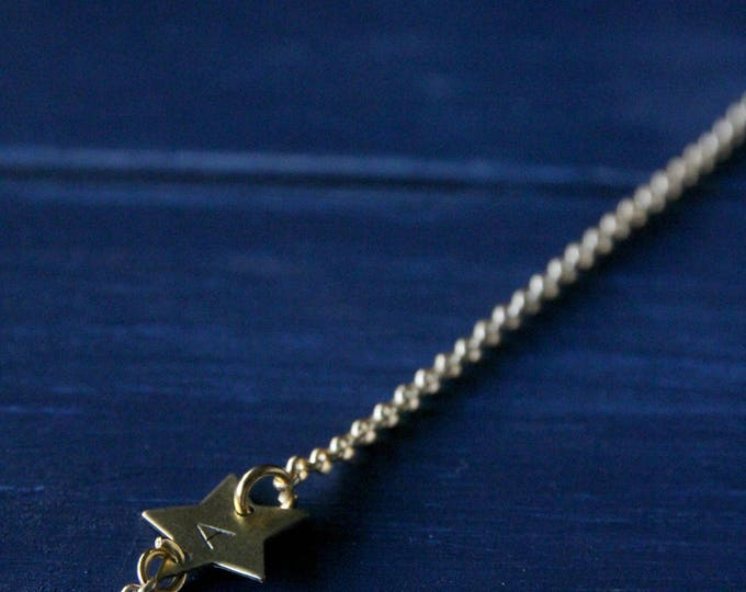 Stars bracelet handstamped jewelry