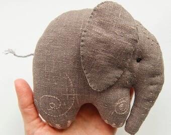 Baby elephant plush, Grey Elephant, stuffed animal, elephant softie, elephant kids gift, elephant birthday, baby gift, baby shower