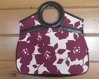 "Vintage~Flowered Victoria's Secret~Handbag~Casual~13"" wide~Pocketbook~Bag~Womens Accessorie~Nice~Larger Bag~Hippie~Boho~Purse"
