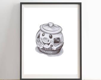 Toy Sketch Nursery Hand Drawn Wall Art Print