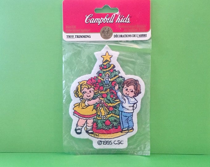 "Campbell Kids Christmas Patch ""Tree Trimming"" (1995)"