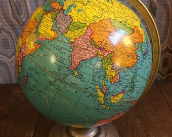"Vintage 12"" Crams Universal Terrestrial Globe from 1950s"