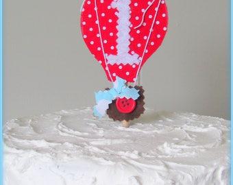 Hot Air Balloon Cake Topper, Hot Air Balloon Birthday, Hot Air Balloon Party Supplies, Balloon Decor, Up Up and Away Birthday, Cake Topper