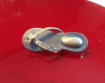 Lady Remington Signed Sandal pin