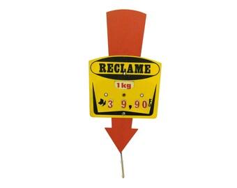 Vintage Butchers Price Promotion Ticket Label. Vintage Store Display Sign.