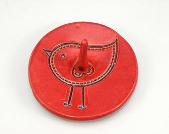 Bird Ring Dish Stoneware wedding present personalized engagement present