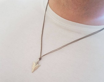 Silver - Arrowhead Necklace, Arrowhead pendant