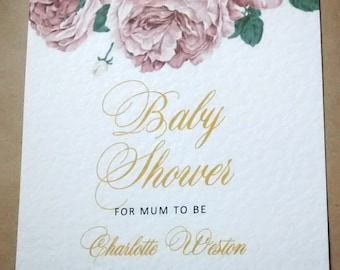 "Baby shower invitation ""Charlotte"""