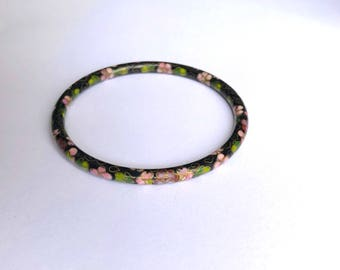 Black Cloisonné Bangle