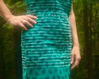 Turquoise, Navy and Purple Maxi Dress Size M/L