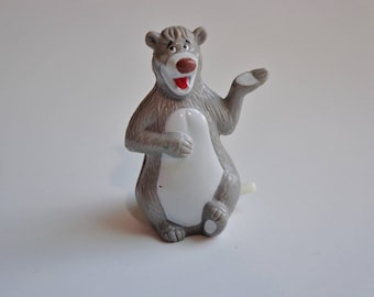 1990 Disney Jungle Book Baloo Wind Up Toy Bear McDonalds Happy Meal Toy Novelty Cake Topper Decoration, Collectible Figure